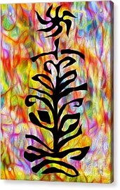 Flower Abstraction Acrylic Print by Gregory Dyer