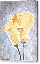Flowers Acrylic Print by Safa Al-Rubaye