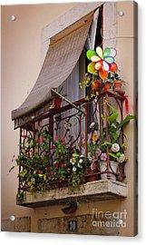 Flowery Balcony Acrylic Print