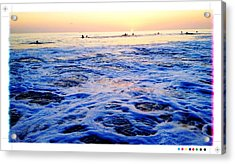 Foamy Sunset Acrylic Print by Sebastian Acevedo