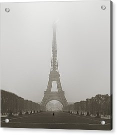 Foggy Morning In Paris Acrylic Print by Metro DC Photography