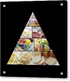 Food Pyramid Acrylic Print by David Munns