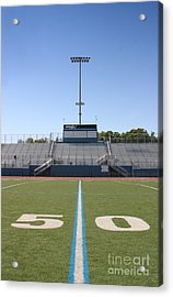 Acrylic Print featuring the photograph Football Field Fifty by Henrik Lehnerer