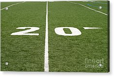 Acrylic Print featuring the photograph Football Field Twenty by Henrik Lehnerer