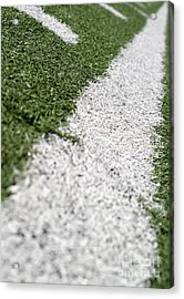 Acrylic Print featuring the photograph Football Lines by Henrik Lehnerer