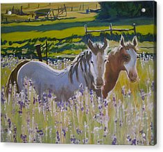 Acrylic Print featuring the painting for Pamela by Julie Todd-Cundiff