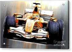 Formula One Acrylic Print by Jerry L Barrett