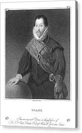 Francis Drake (1540?-1596) Acrylic Print by Granger