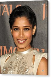 Freida Pinto At Arrivals For Immortals Acrylic Print by Everett