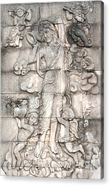 Frescoes Of Women In Mythology Acrylic Print by Phalakon Jaisangat