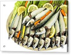 Fresh Uncoocke Fish Acrylic Print by Soultana Koleska