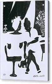 Friends Acrylic Print by Rhetta Hughes