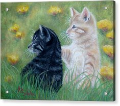 Frisky Friends Acrylic Print by Annamarie Sidella-Felts