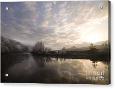 Frosty Morning Acrylic Print by Angel Ciesniarska