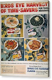 Frozen Food Ad, 1957 Acrylic Print by Granger