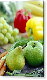 Fruits And Vegetables Acrylic Print by David Munns