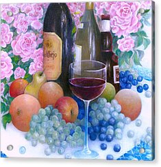 Fruits Wine And Roses Acrylic Print