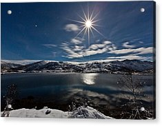 Full Moon Acrylic Print by Frank Olsen