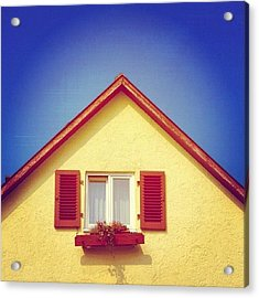 Gable Of Beautiful House In Front Of Blue Sky Acrylic Print