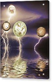 Galactic Storm Acrylic Print by Sharon Lisa Clarke