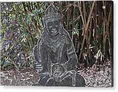 Acrylic Print featuring the photograph Garden Goddess by Donna  Smith