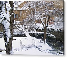 Garden In Winter Acrylic Print by Sylvie Leandre