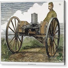 Gatling Gun, 1872 Acrylic Print by Granger