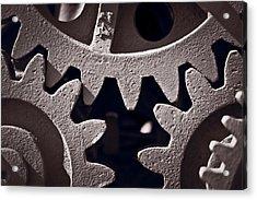 Gears Number 2 Acrylic Print by Steve Gadomski