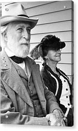 General Lee And Mary Custis Lee Acrylic Print by Thomas R Fletcher