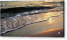 Gentle Tide Acrylic Print by Angela Rath