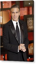 George Clooney At Arrivals For The Acrylic Print by Everett