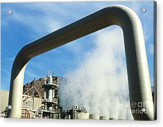 Geothermal Power Plant Acrylic Print by Science Source