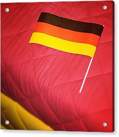 German Flag And Colors Acrylic Print