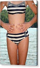 Girl In Bikini Acrylic Print by Susan Leggett