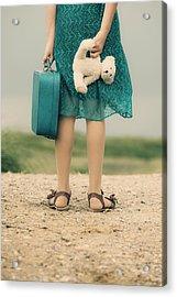 Girl In The Dunes Acrylic Print by Joana Kruse