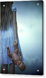 Girl With Baby Doll Acrylic Print by Joana Kruse