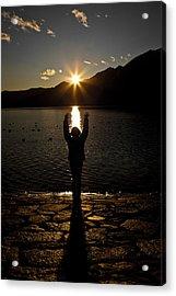 Girl With Sunset Acrylic Print by Joana Kruse