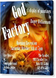 God Factory An Exhibition Of Paintings By Roger Williamson Acrylic Print