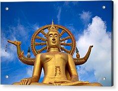 Golden Buddha Acrylic Print by Adrian Evans