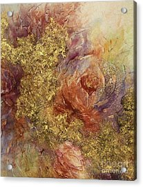 Acrylic Print featuring the ceramic art Golden Rose Path by Kathleen Pio