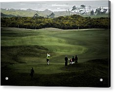 Golf At The Dunes Acrylic Print by Dale Stillman