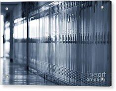 Grade School Lockers Acrylic Print by Will & Deni McIntyre