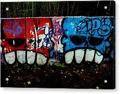 Graffiti Wall Acrylic Print by Frank DiGiovanni