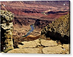 Grand Canyon Colorado River Acrylic Print by Bob and Nadine Johnston