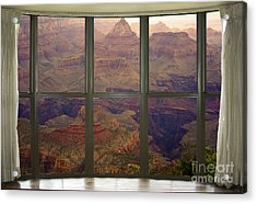 Grand Canyon Springtime Bay Window View Acrylic Print by James BO  Insogna