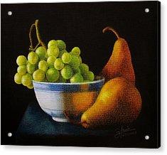 Grapears Acrylic Print by Bleuie  Acosta