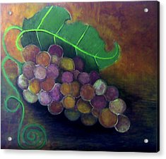 Acrylic Print featuring the painting Grapes by Monica Furlow