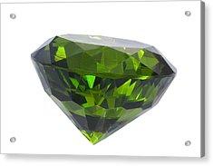 Great Emerald Isolated Acrylic Print by Atiketta Sangasaeng