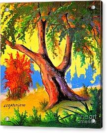 Green Day Acrylic Print by Leomariano artist BRASIL