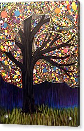 Acrylic Print featuring the painting Gumball Tree 00053 by Monica Furlow